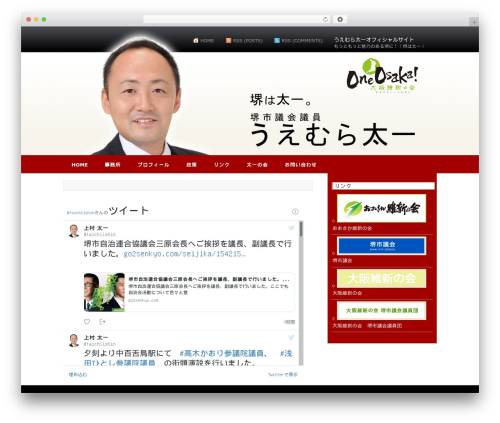 AppleX WordPress theme - taichi-ishin.com