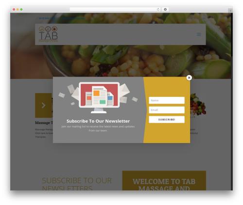 Betheme fitness WordPress theme - tabmassage.com