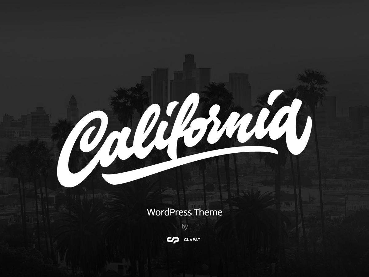 California WordPress movie theme