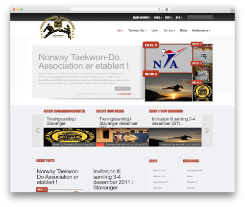 Delicate News WordPress page template - tkd-academies.no