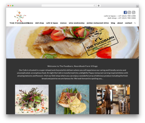 Enfold best restaurant WordPress theme - thefoodbarn.co.za