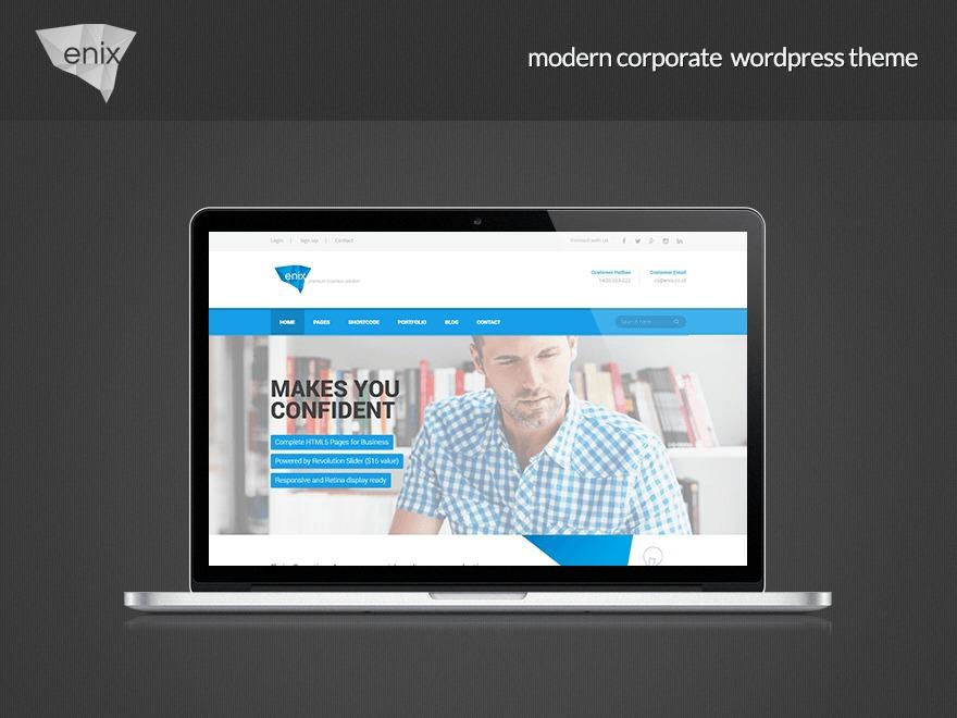 Enix WordPress template for business
