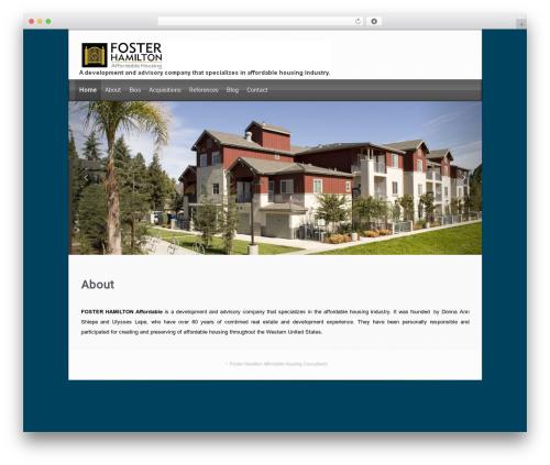evolve template WordPress free - fosterhamiltonaffordable.com