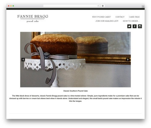 Genesis WordPress theme - fanniebragg.com