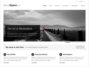 Goodspace premium WordPress theme