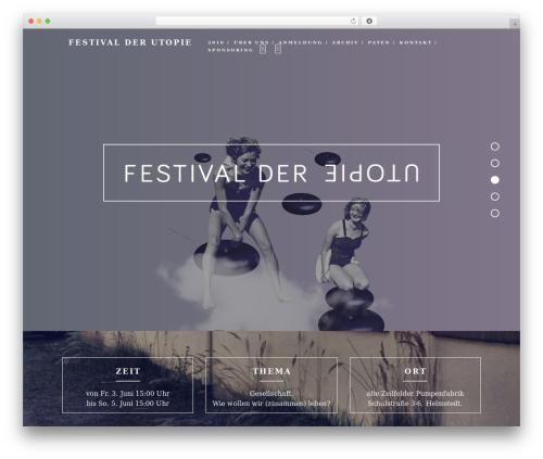 Haven WordPress template - festival-der-utopie.de