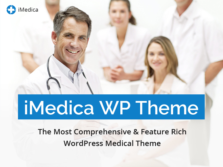 iMedica (shared on wplocker.com) medical WordPress theme
