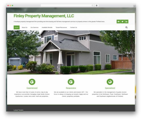 Nalleto WordPress template for business - finleypropertymgmt.com
