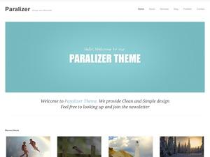 Paralizer personal blog WordPress theme