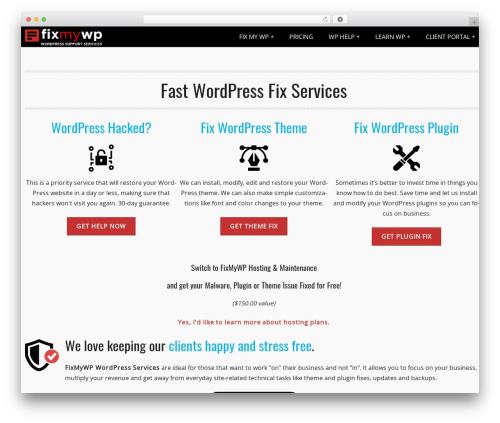PerSempre theme WordPress - fixmywp.com/?wpfix
