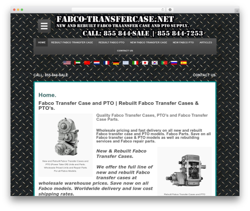 Responsive best free WordPress theme - fabco-transfercase.net
