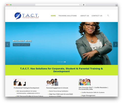 Salient best WordPress theme - tactimpact.com