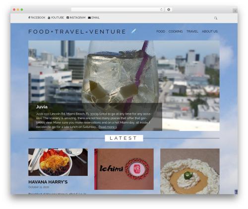 Simply Read food WordPress theme - foodtravelventure.com