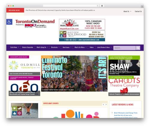 SKT Magazine Pro top WordPress theme - torontoondemand.ca