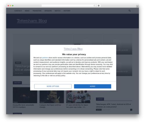 Template WordPress Newspaper - tottenhamblog.com