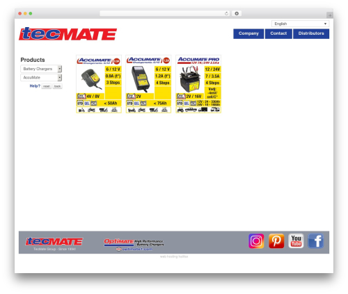 Toolset Bootstrap WP template - tecmate.com/?post_type=products∏uctcategorie=battery-chargers∏uctcategorie=accumate2