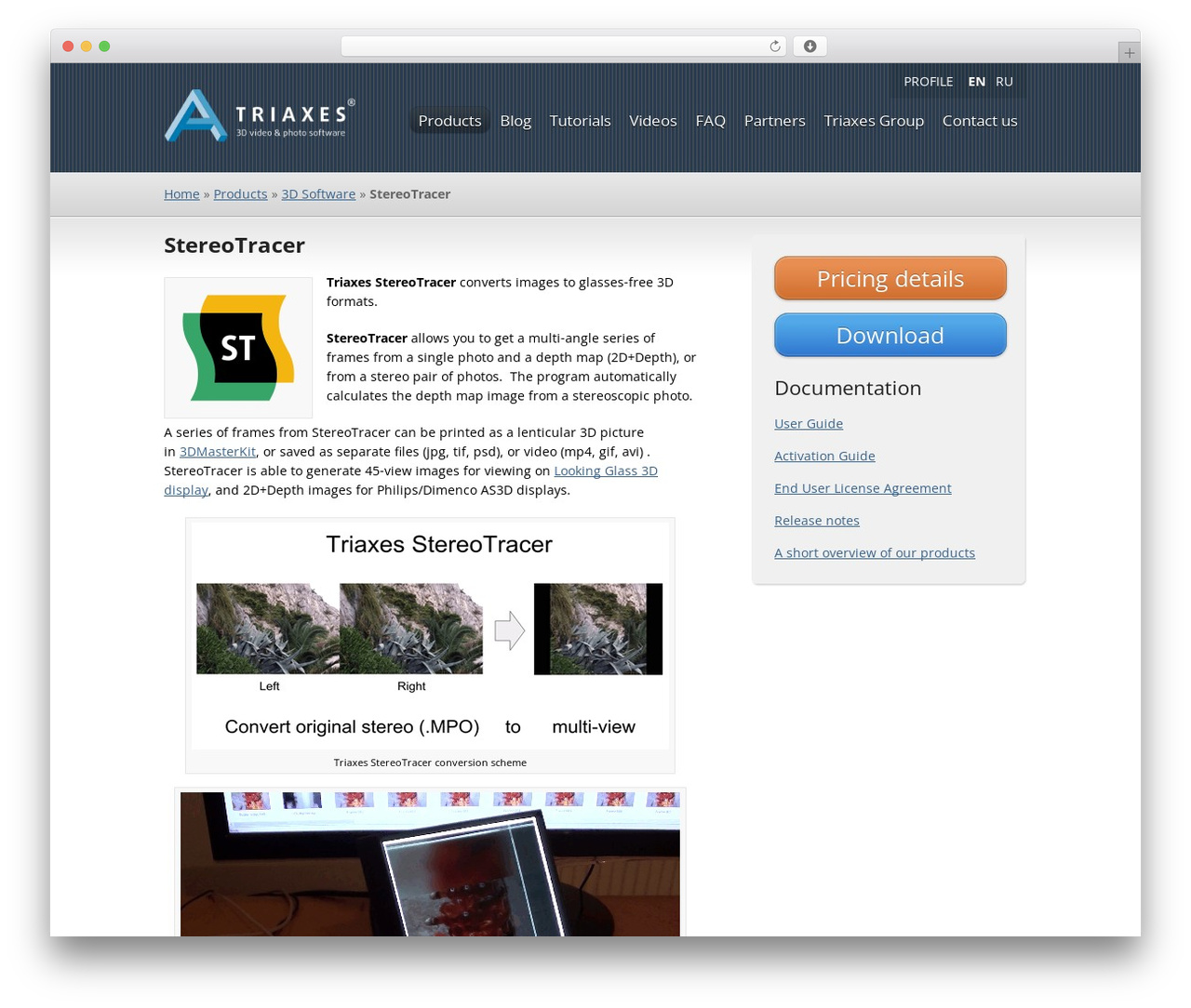 Triaxes Wordpress Template By Butorius Triaxes Products 3d