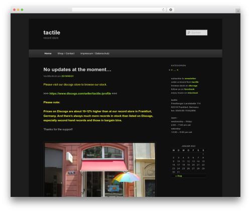 Twenty Eleven WordPress template - tactilemusic.de