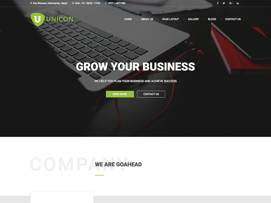 Unicon Lite theme WordPress free