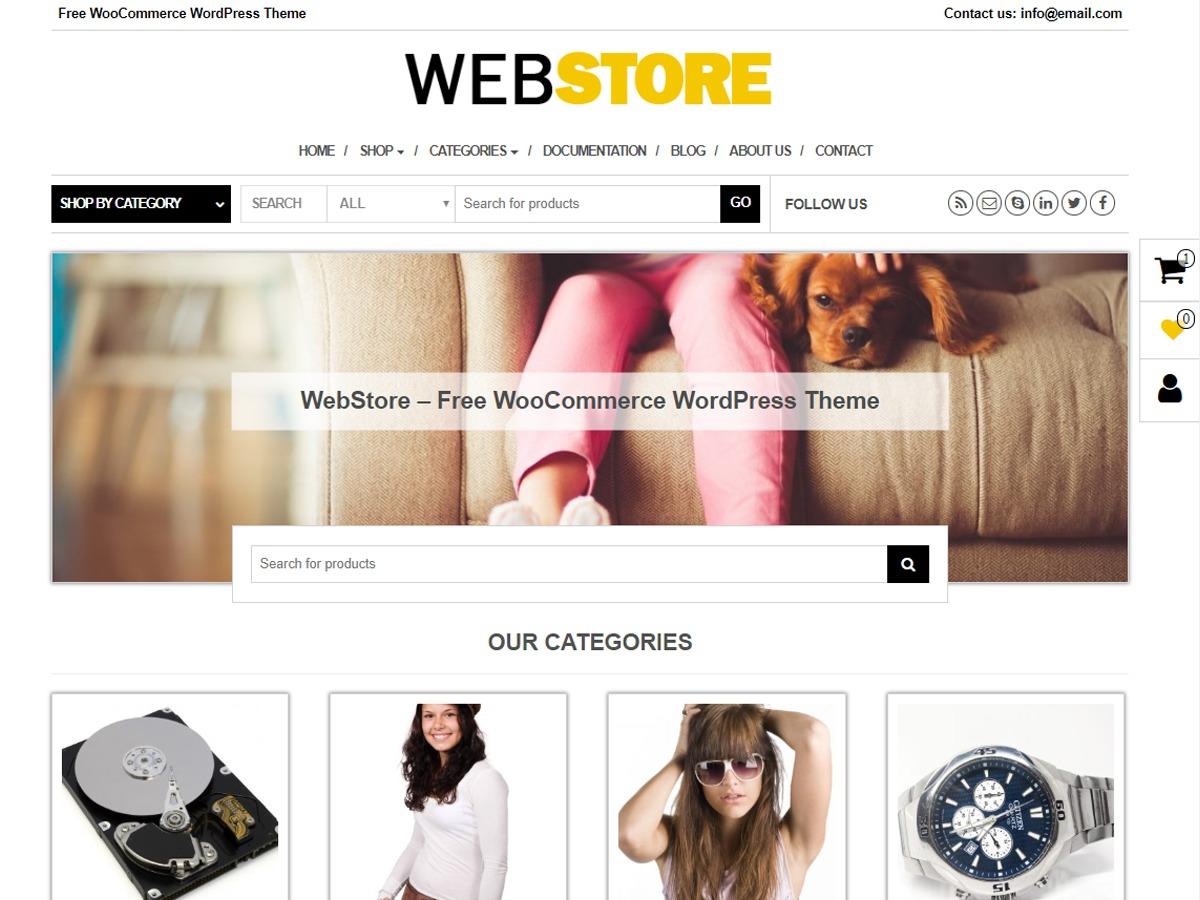 WebStore WordPress shop theme