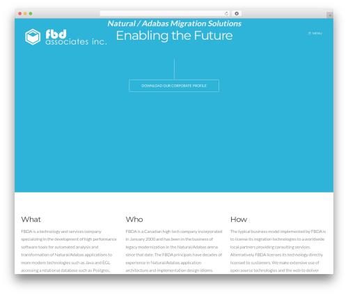 WordPress template Form - fbda.ca
