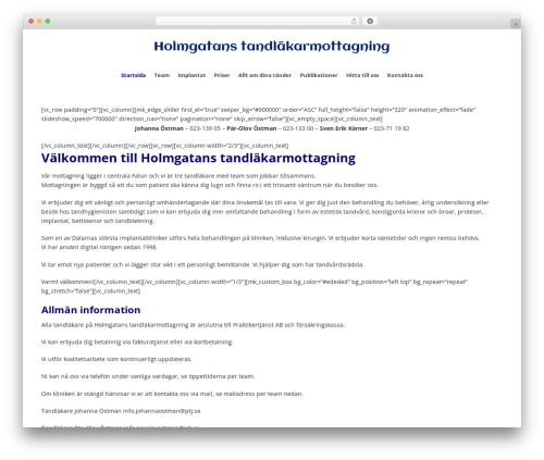 WordPress template Jupiter - teamholmgatan.se