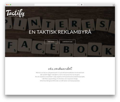 WordPress template MinimalZerif - tactify.se