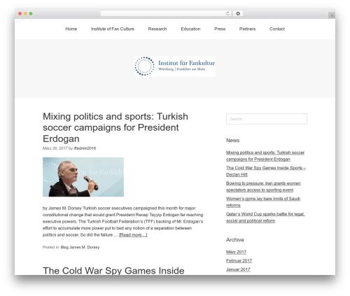 WordPress template Omega - fankultur-institut.de