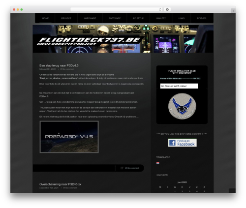 WordPress template Piano Black - flightdeck737.be