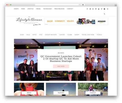 WordPress template Prima Donna - thelifestyleavenue.com