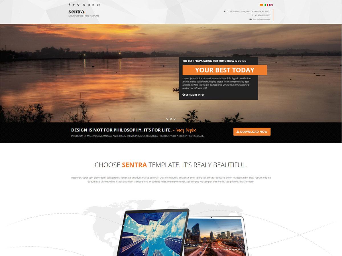 WordPress template Sentra