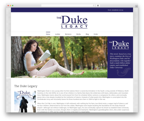 WordPress website template Avada - thedukelegacy.com