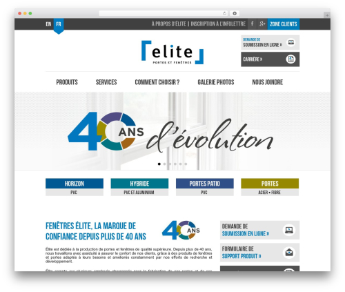 WordPress website template Elite - fenetreselite.com