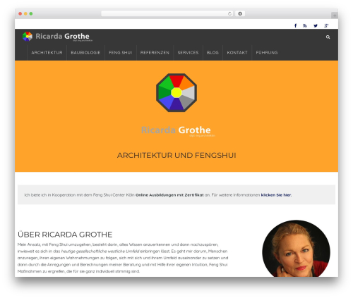 WP Omnia WordPress page template - fengshui-architektur.com