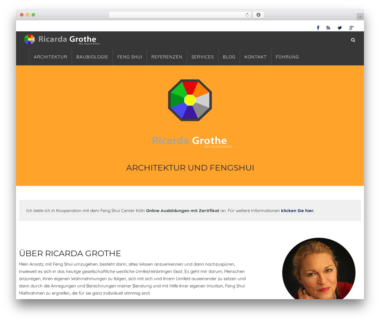 WP Omnia WordPress page template - fengshui-architektur.com