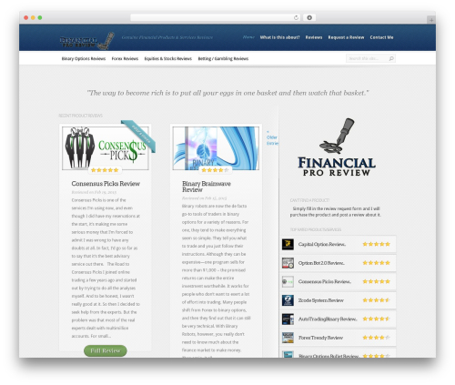 WP theme InReview - financialproreview.com