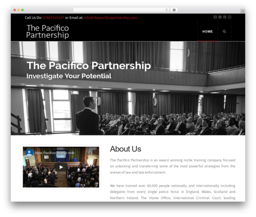 X premium WordPress theme - thepacificopartnership.com