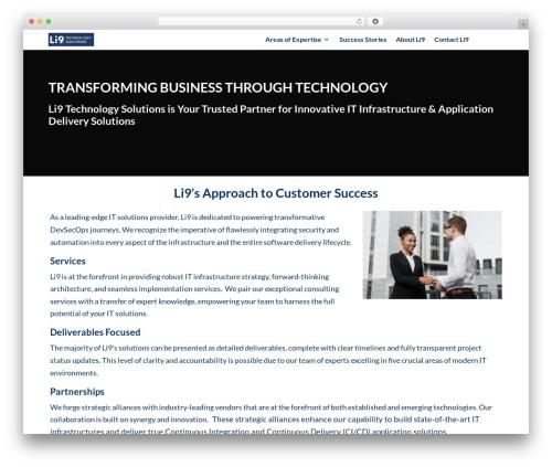 Divi business WordPress theme - li9.com