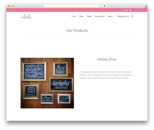 Divi WordPress website template - la-la.co