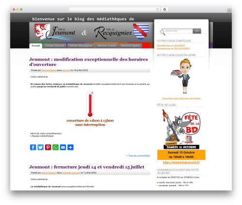 Fusion theme WordPress - lamediatheque-jeumont.fr