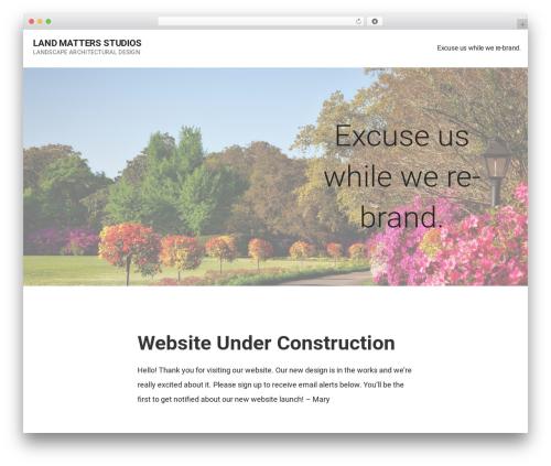 Mins theme WordPress - landmattersstudios.com
