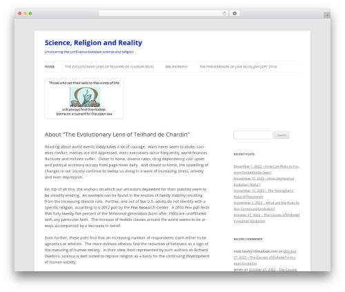 Twenty Twelve template WordPress free - lloydmattlandry.com