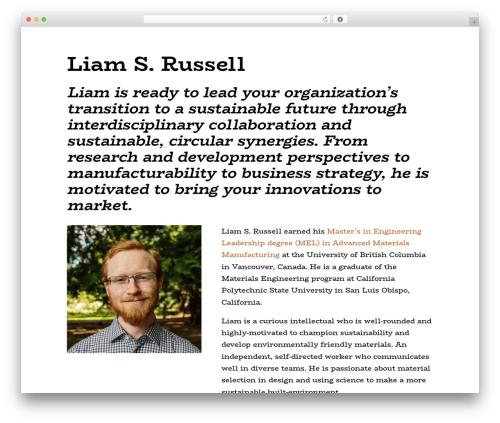 WordPress template Divi - liamsrussell.com
