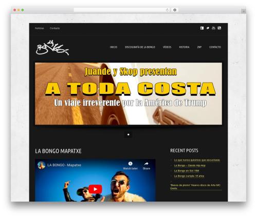 WordPress website template Music Pro - labongo.com
