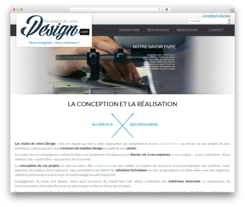 WP theme Theme BMS - lesmainsdevotredesign.com