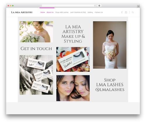 Eden WordPress website template - lamiaartistry.com