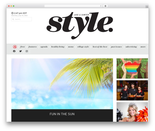 Headline News WordPress magazine theme - lakeandsumterstyle.com