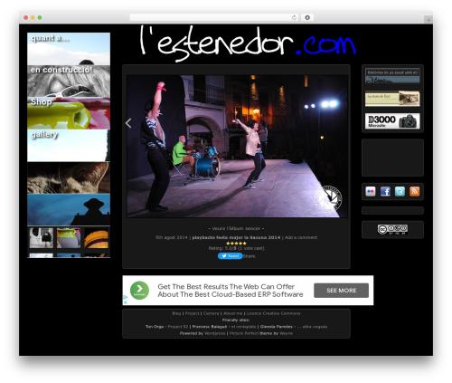 Picture Perfect WordPress page template - lestenedor.com