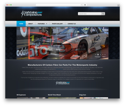 Radial Premium Theme WordPress website template - lightningcomposites.com.au