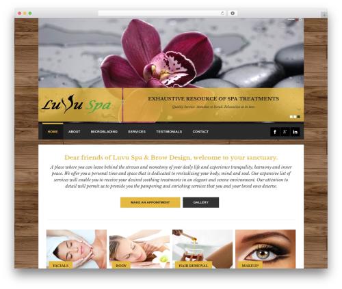Spalon theme WordPress - luvudayspa.com
